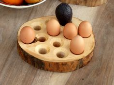 A beautiful hand made Ash egg storage tray holding 12 eggs.