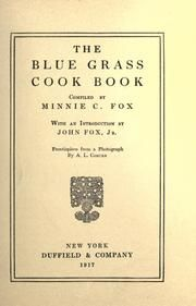 The blue grass cook book : Fox, Minnie C : Free Download & Streaming : Internet Archive