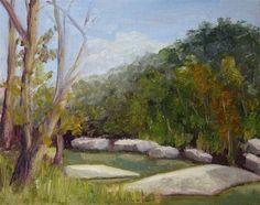 """Barton Creek"" - Original Fine Art for Sale - © Jane Frederick"