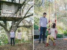 Engagement Photos in a Treehouse: Ellie + Spenser