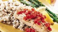 Enjoy this lemon flavored herbed roughy recipe that's ready in 35 minutes - a classic seafood dinner.