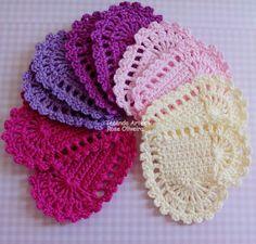 Tecendo Artes em Crochet: Corações para Aplique e Outras Fofuras!