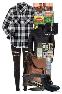 """Zombie apocalypse"" by imsobo ❤ liked on Polyvore featuring River Island, Aéropostale, The North Face, H&M, Victoria's Secret, Georges Morand and Smith & Wesson"
