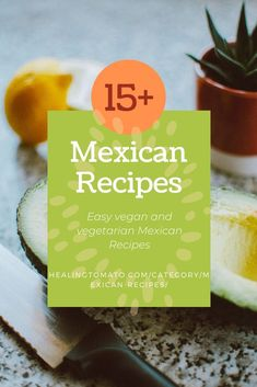 vegan and vegetarian Mexican recipes that include sides, main course meals, lunch and even dessert recipes Vegetarian Mexican Recipes, Vegetarian Comfort Food, Vegan Vegetarian, Tostadas, Tacos, Vegan Appetizers, Easy Appetizer Recipes, Savoury Recipes, Dessert Recipes