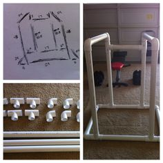 """DIY Dip Station made from 2"""" PVC and glue"""