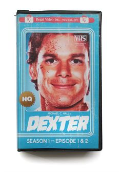 Dexter. | This Guy Created The Perfect VHS Cover Art For Modern TV Shows And Movies