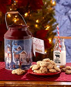 Cookies are a necessity with this changing season. Chocolate Chip Cookie Milk Tins are wonderful source of Holiday spirit and make a delicious gift for loved ones. The tins are reusable and provide a decorative touch of Christmas to every kitchen.