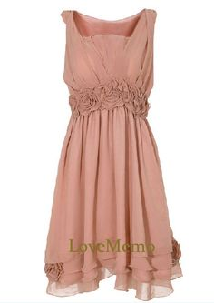 Hey, I found this really awesome Etsy listing at http://www.etsy.com/listing/163910745/apricotpink-blush-a-line-chiffonorganza