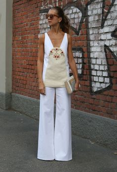 Milan Street Style - Spring Summer Fashion 2013 / straight and white