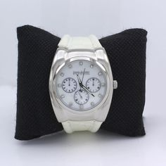 QVC Joan Rivers Croco Embrossed White Luxury Sport Watch Leather Band #JoanRivers #Fashion