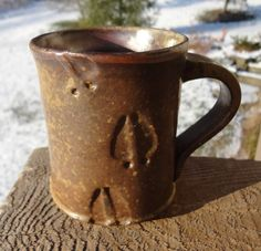 Deer track mug