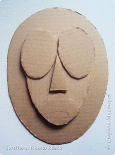 Hello, the inhabitants of the Country . Cardboard Sculpture, Cardboard Crafts, Sculpture Clay, Glass Wall Art, Diy Wall Art, African Pottery, Abstract Face Art, African Art Paintings, Masks Art
