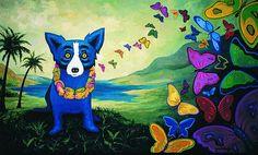 ",Deco Wall art Blue Dog series Oil Painting HD Print On Canvas 12""x20"" #ArtDeco"