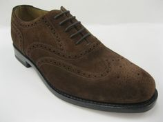 Loake-202Ds-Hommes-Cuir-Suede-Brun-Brogue-Taille-De-Chaussure-UK8-5G-GOC