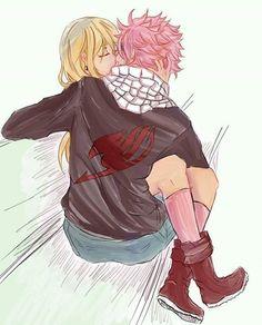 Nalu, Natsu Dragneel, Lucy Heartfilia, Love, Kiss, Fairy Tail