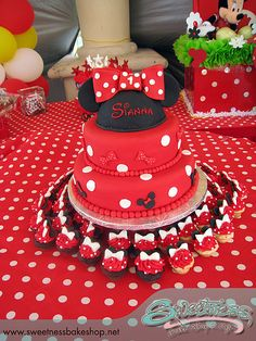 love this cake with cupcakes around the bottom!