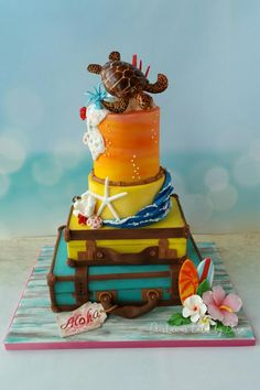 "Hawai'i ""Around the World in Sugar"" Collaboration  by Dees'Licious Cakes by Dana"