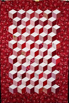 TUMBLING BLOCK QUILT PC
