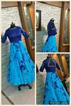 Long Gown Dress, Frock Dress, Long Frock, Frocks And Gowns, Maxi Gowns, Indian Long Dress, Indian Dresses, Long Skirt And Top, Frock Models