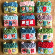 hello, it's been a while! I've been knitting houses :) (little woollie) Knitting Patterns Free, Knit Patterns, Free Knitting, Baby Knitting, Textiles, Knitting Projects, Crochet Projects, Crochet Cushion Cover, Knitting For Charity