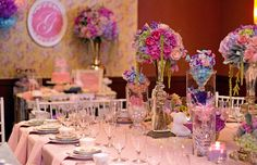 Birthday party floral! Marie Antoinette styled floral by Haute Floral, Dallas, TX www.hautefloral.com