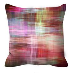 BLURRY VISION 2 Red Pink Yellow White Tartan Plaid Art Suede Decorative Throw Pillow Cushion Cover by EbiEmporium, #plaid #tartan #red #moderndecor #homedecor #countrychic #pillowcover #throwpillow