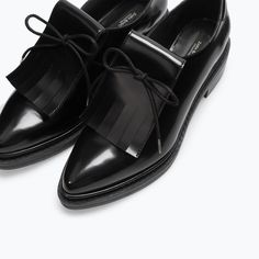 {BLUCHER WITH FRINGES from Zara in Black - under $100}