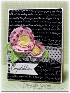 Created by Tamytha Jenkins of www.paperheartist.com using Close To My Heart Chantilly and For Always Textiles.