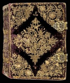 Bridwell Library 1619 embroidered binding