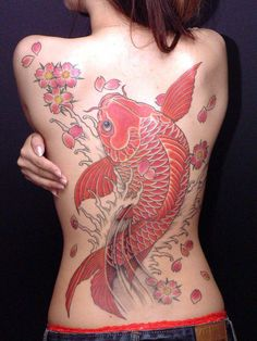 Koi Tattoo - want something similar for a thigh piece