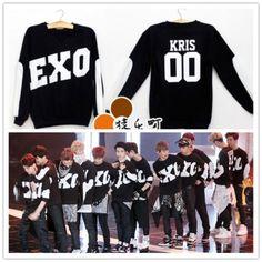 EXO-Black-Coat-Kris-Luhan-Sweater-Kai-KPOP-Gayo-Daejun-Daejeon-Lay-Suho-Hoody
