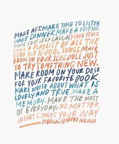 Make something - Morgan Harper Nichols
