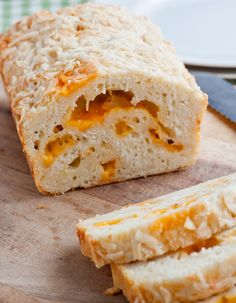 Lighter Cheesy Garlic Bread
