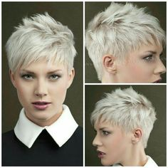 When Lilith is in demon trigger mode her hair gets short and spiked up Short Grey Hair demon Hair Lilith mode Short spiked trigger Super Short Hair, Short Grey Hair, Black Hair, Haircut For Older Women, Short Hair Cuts For Women, Very Short Pixie Cuts, Short Pixie Haircuts, Punk Pixie Haircut, Pixie Haircut For Round Faces