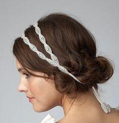 Cerchietto per la sposa con doppia fascia
