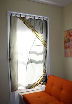 Upcycle Old Tents Into New Curtains