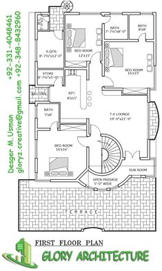 50x90 House Plan 1 Kanal Modern House Plan Pinterest House