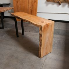 Urban Hardwoods maple single slab 1 fold console #UrbanHardwoods #Salvagedwood