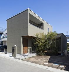 KT-HOUSE Japanese Modern House, Small House Exteriors, Small Buildings, House Landscape, Random House, Architecture Details, Custom Homes, Interior And Exterior, My House
