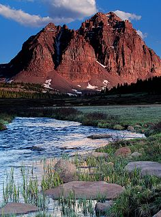 Red Castle Peak from East Fork Smiths Fork, High Uinta Wilderness, Utah.  Photo: David K via summitpost