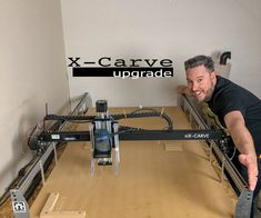 printer design printer projects printer diy CNC Ex-Machina CNC Ex-Machina 1800 MM X-Carve Upgrade you can find similar pins below. Routeur Cnc, Arduino Cnc, Diy Cnc Router, Woodworking Garage, Xy Plotter, Wood Cnc Machine, Cnc Table, Router Table, Router Sled