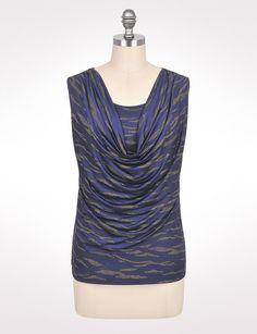 Plus Size | Tops | Shirts & Blouses | Plus Size Textured Zebra Top | dressbarn $34