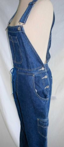 Bill Blass Jeans Denim Overalls Jumpsuit NOS Deadstock Wide Leg Vintage 80s M