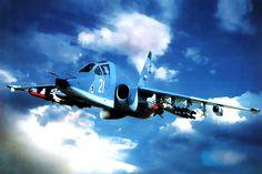 Sukhoi Su-25 Frogfoot, love this photo