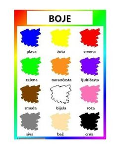 Croatian clothes and colours vocabulary Slovenian Language, Croatian Language, Italian Language, Korean Language, Preschool Classroom Decor, Preschool Learning Activities, Speech Language Therapy, Speech And Language, Serbo Croatian