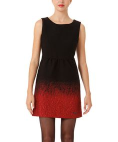 Take a look at this Black & Red Crackle Dress by Desigual on #zulily today!
