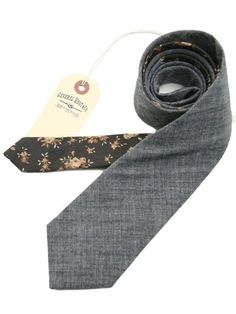 casual tie with floral back
