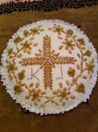 Image result for κόλλυβα συνταγή Food Network Recipes, Cooking Recipes, The Kitchen Food Network, Greek Icons, Eat Greek, Orthodox Easter, Greek Sweets, Greek Easter, Greek Beauty