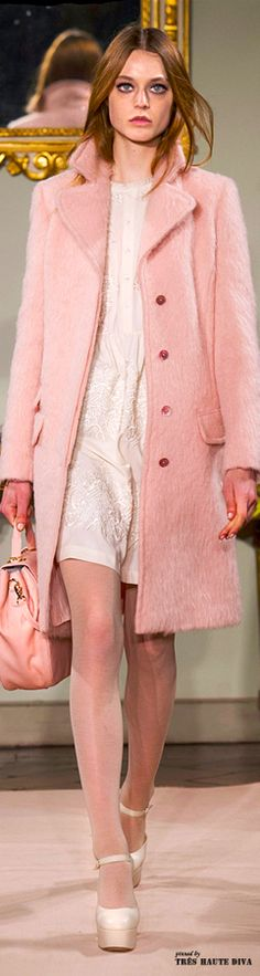 #Milan Fashion Week Blugirl Fall/Winter 2014 RTW............perfect coat, flattering color