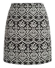 Jacquard Aztec Skirt